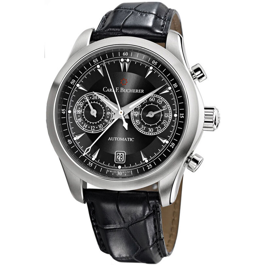 Carl F. Bucherer Manero CentralChrono Black Dial Mens Watch 00.10910.08.33.01