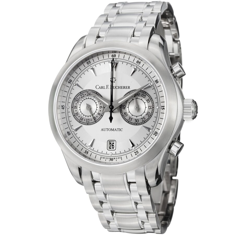 Carl F Bucherer Manero CentralChrono Silver Dial Mens Watch 10910081321