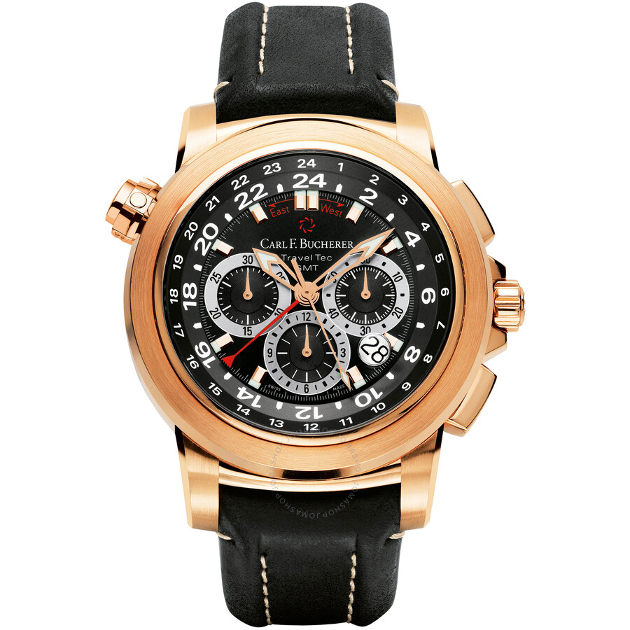 Carl F. Bucherer Patravi TravelTec Black Dial Mens Watch 00.10620.03.33.01