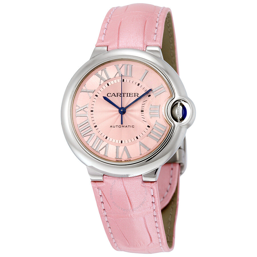 Cartier Ballon Bleu Automatic Pink Dial Ladies Watch WSBB0007