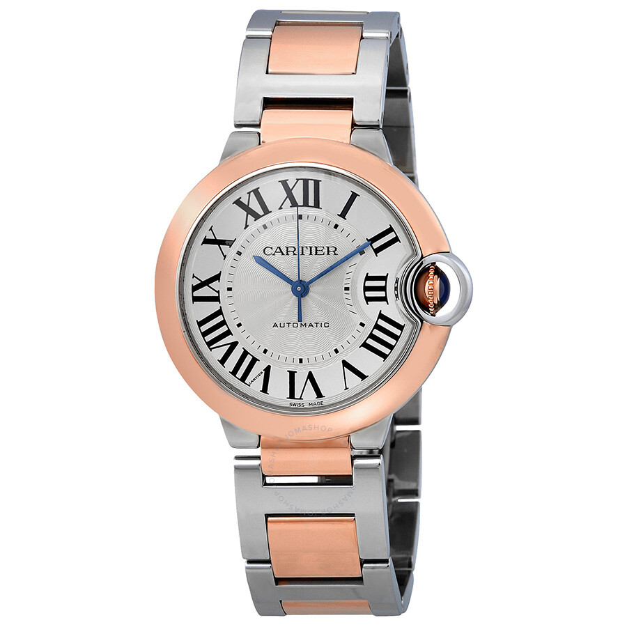 Cartier Ballon Bleu De Cartier Silvered Flinque Guilloche Dial Automatic Lad..
