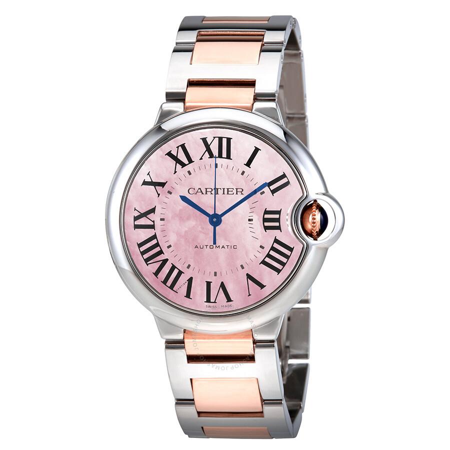 Cartier Ballon Bleu Pink Mother of Pearl  Dial Ladies Watch W2BB0011