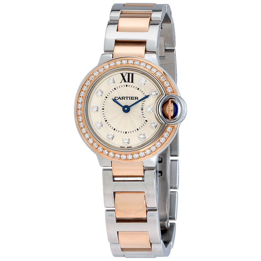 Cartier Ballon Bleu Silver Dial Diamond Ladies Watch WE902076