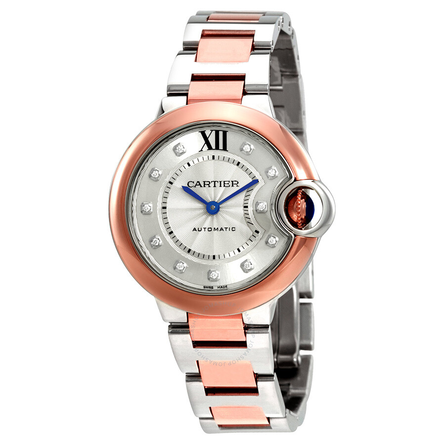 Cartier Ballon Bleu Silver Dial Ladies Watch W3BB0006