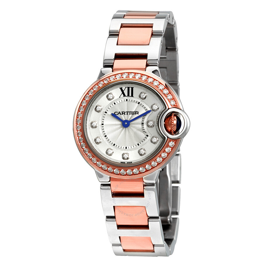 Cartier Ballon Bleu Silver Dial Ladies Watch W3BB0009