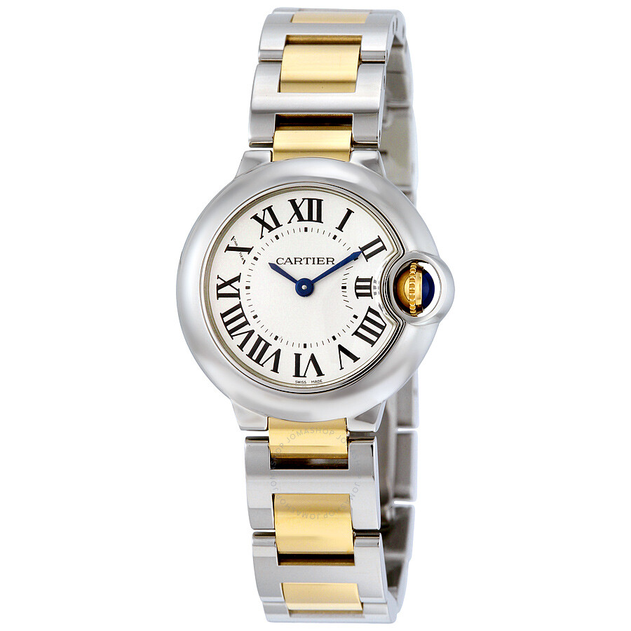 Cartier Ballon Bleu Silver Dial Stainless Steel Ladies Watch W2BB0010