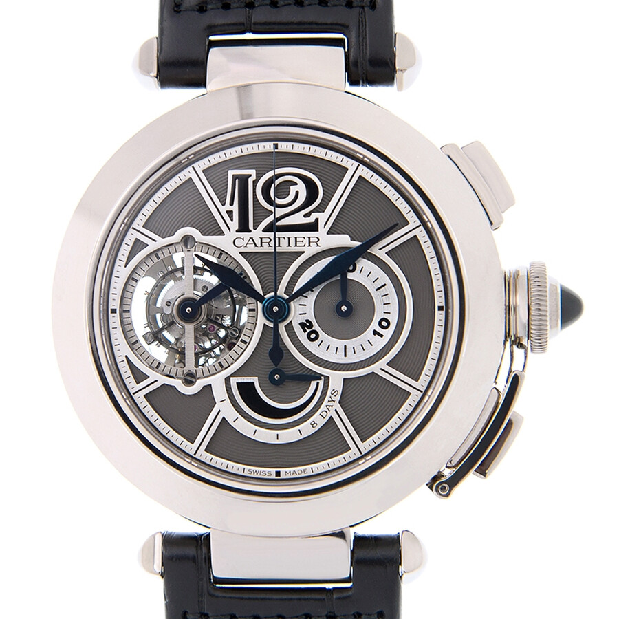 Cartier Pasha Tourbillon Chronograph 18 kt White Gold Mens Watch W3030013