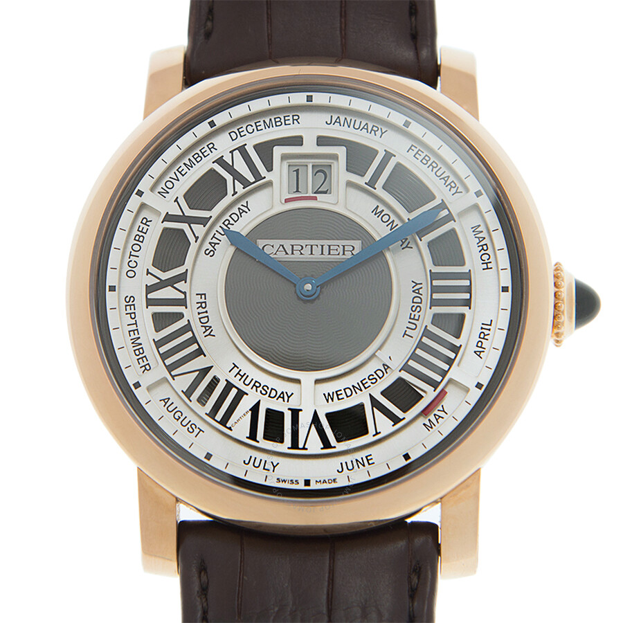 Cartier Rotonde de Cartier Annual Calendar Complication 18 kt Rose Gold Mens Watch W1580001