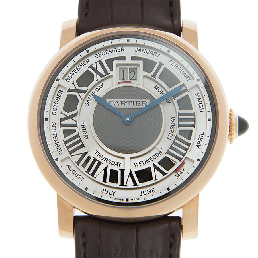 Cartier Rotonde de Cartier Annual Calendar Complication 18 kt Rose Gold Mens Watch W1580001