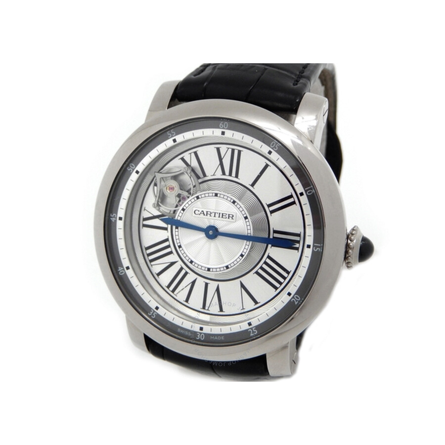 Cartier Rotonde de Cartier Astrotourbillon 18 kt White Gold Mens Watch W1556204