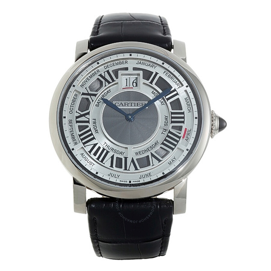 Cartier Rotonde de Cartier Perpetual Calendar Automatic 18 kt White Gold Mens Watch W1580002