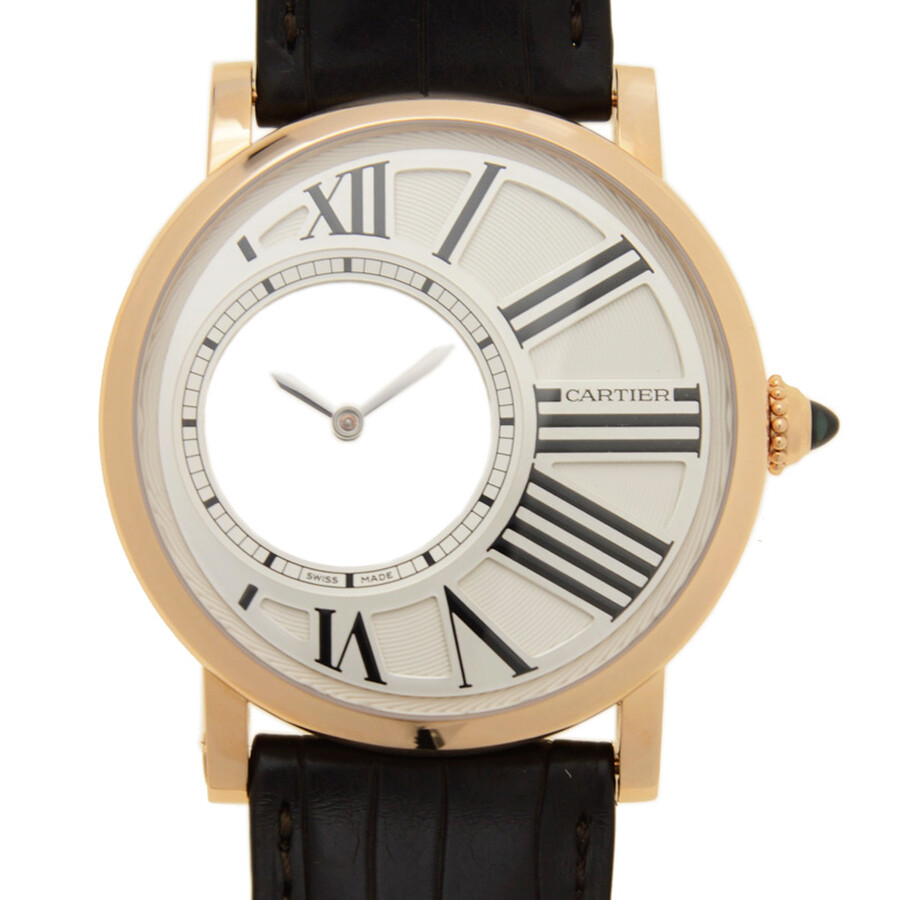 Cartier Rotonde Mysterious Hours Mechanical 18Kt Pink Gold Mens Watch W1556223