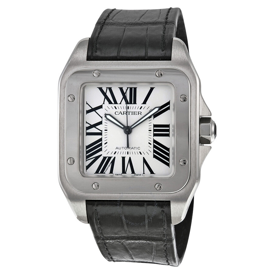 automatic galbee santos automaticdate date cartier lady watch in watches steel
