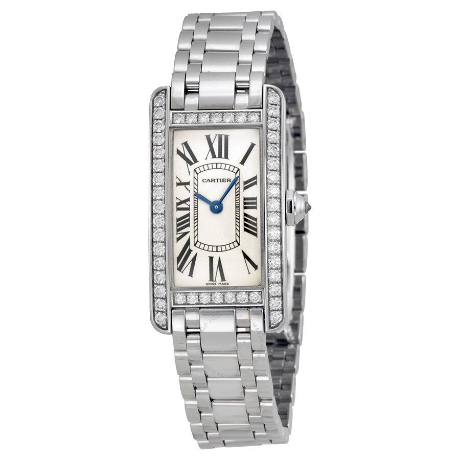beige watches designers silver womens women cartier plated joli en gold jewellery tank ref fine