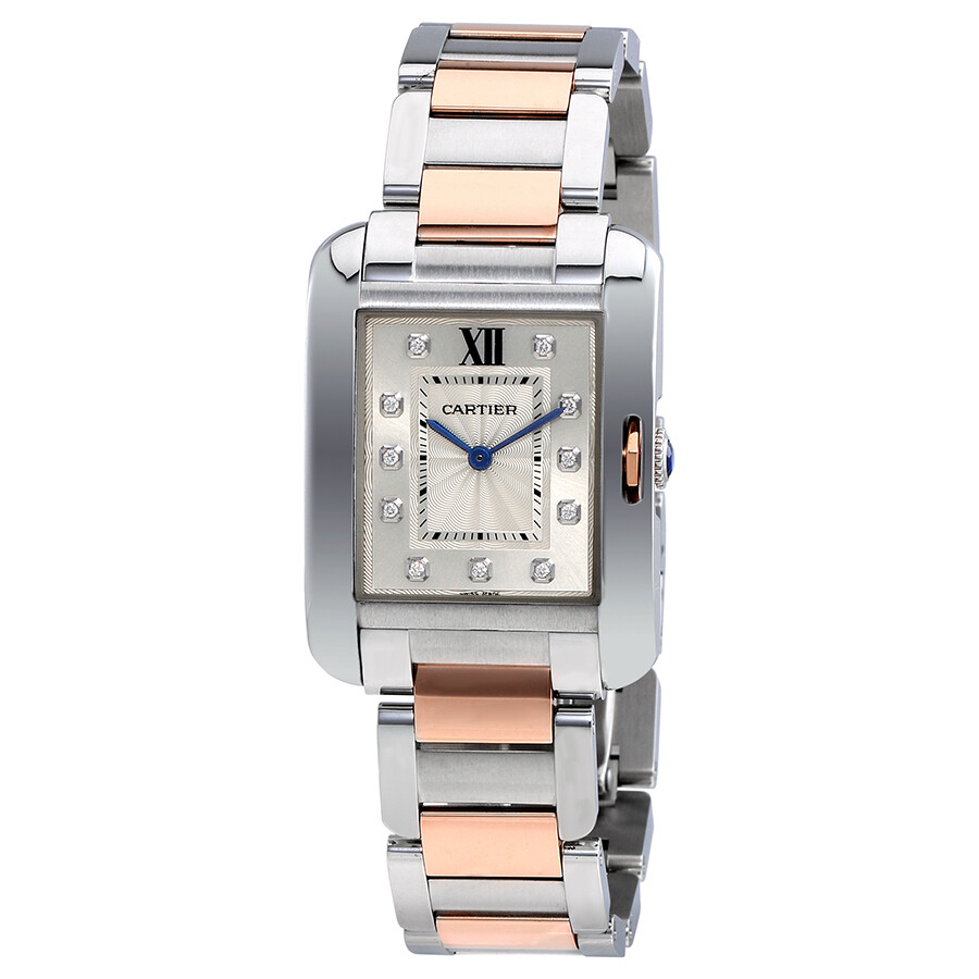 Cartier Tank Anglaise Silver Dial Ladies Watch WT100032