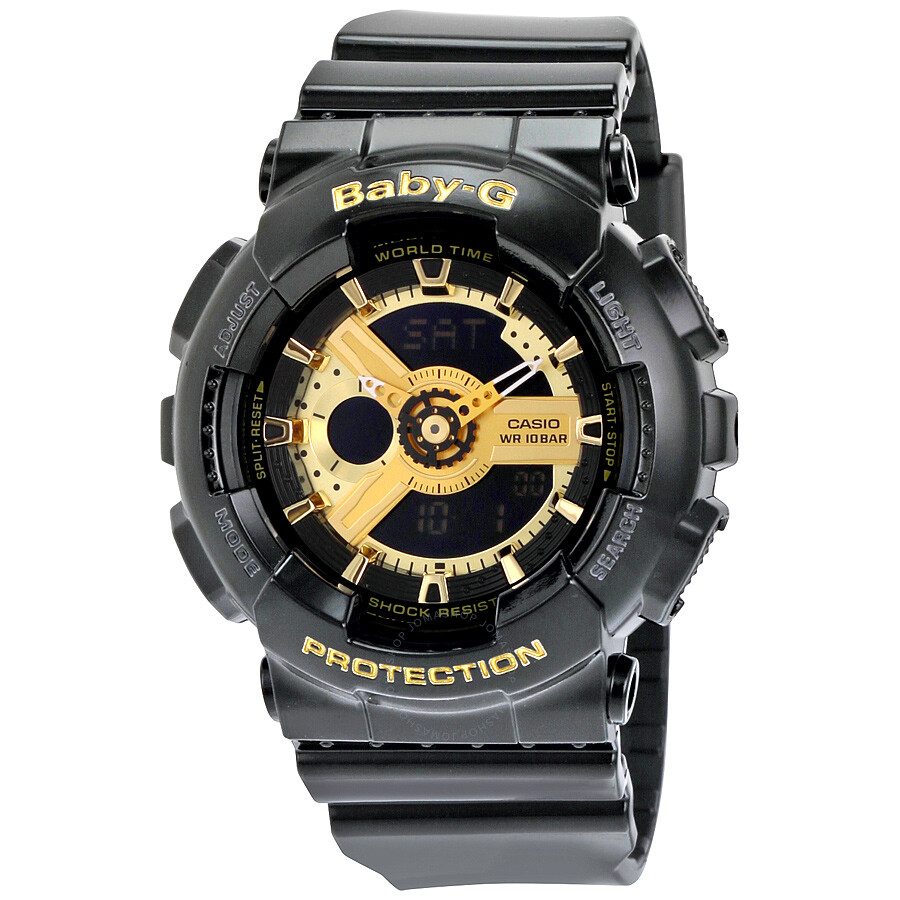 Casio Baby G Black Resin Ladies Watch Ba110 1a Baby G