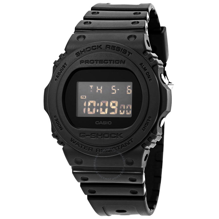 Casio g shock alarm chronograph men 39 s watch dw 5750e 1bcr g shock casio watches jomashop for Watches g shock