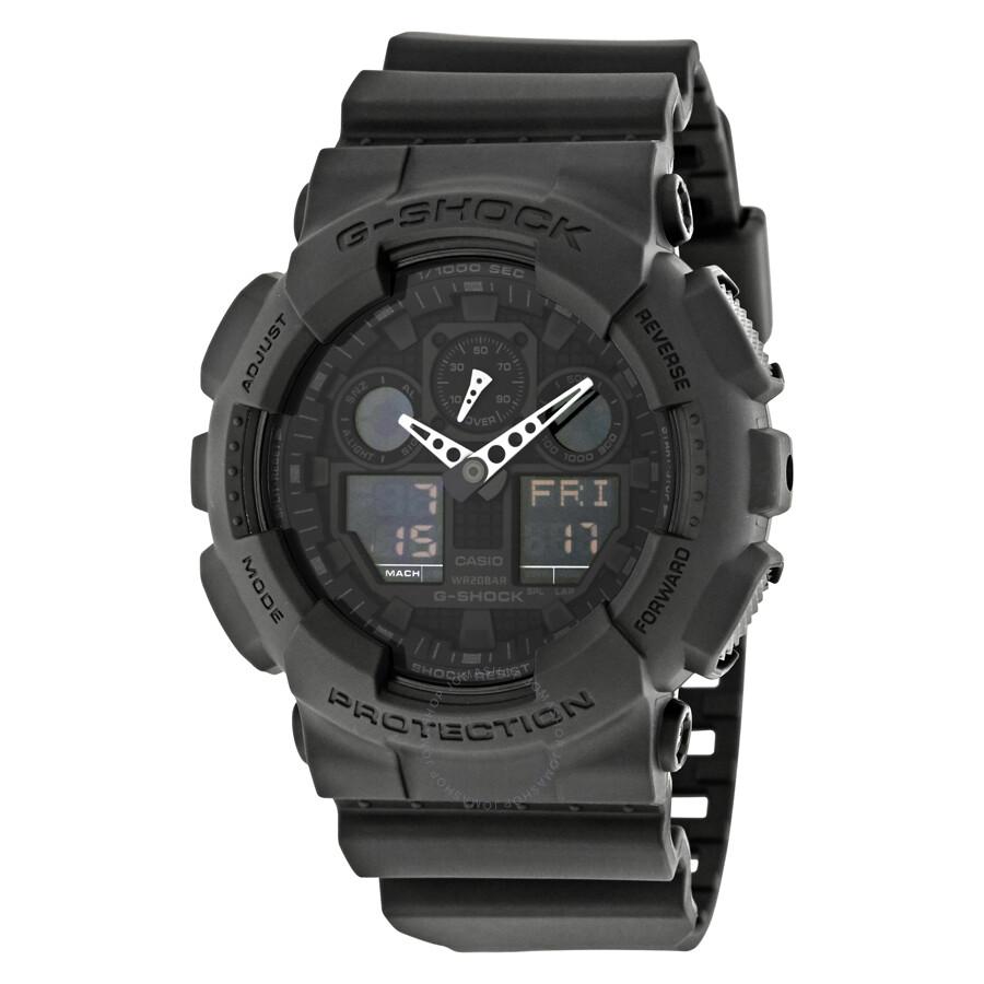 Casio G-Shock Classic Series Analog-Digital Black Dial Men's Watch GA100-1A1CR - G-Shock - Casio ...