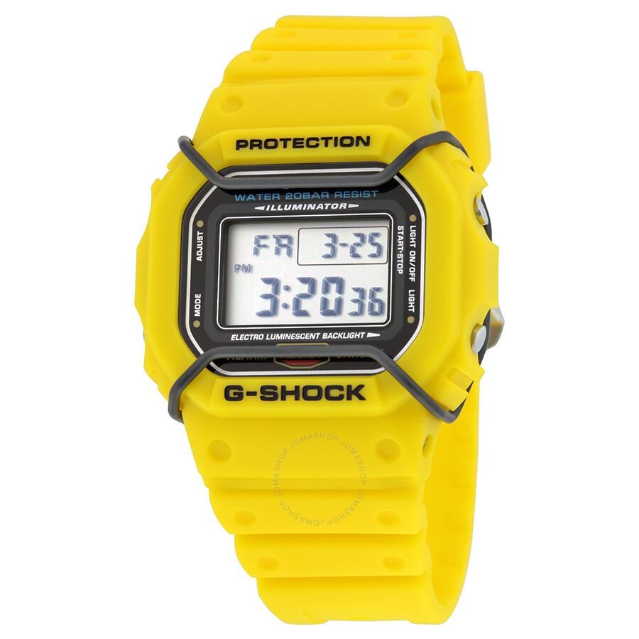 Casio G-Shock Digital Dial Yellow Resin Mens Watch DW5600P-9