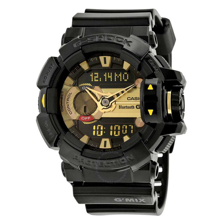 Casio G-Shock G'Mix Black Dial Black Resin Multi Quartz Mens Watch GBA400-1A9CR