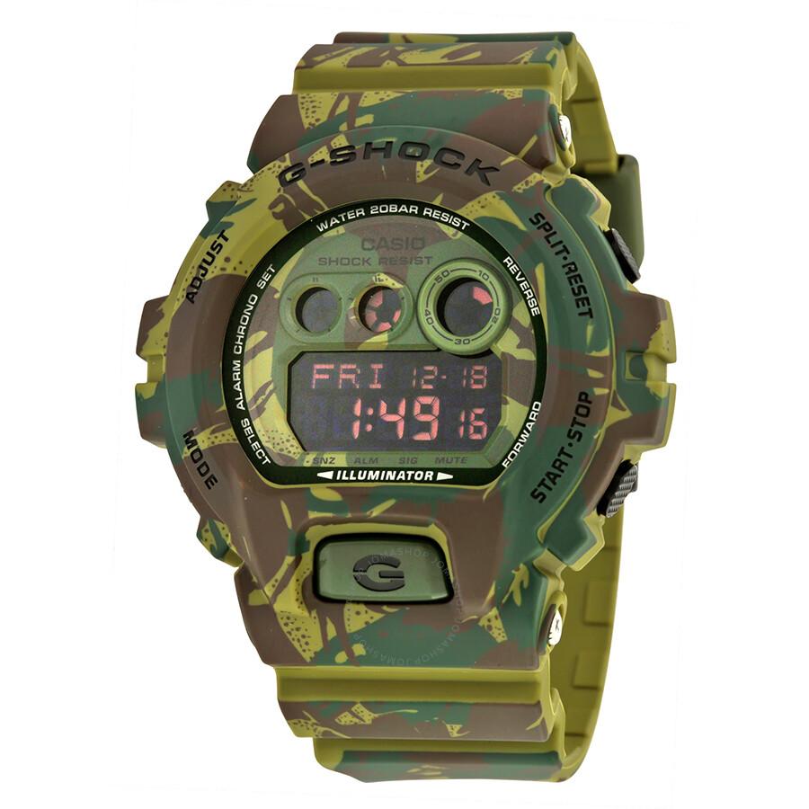 Casio G-Shock Green Camo Dial Resin Mens Watch GDX-6900MC-3