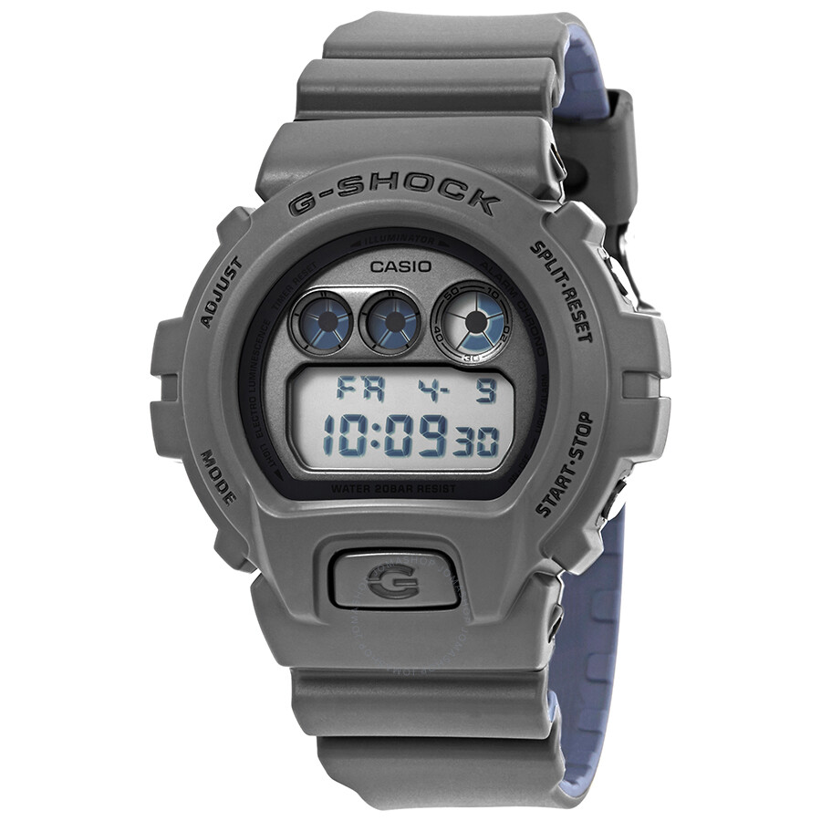 casio gshock military grey and blue digital watch dw
