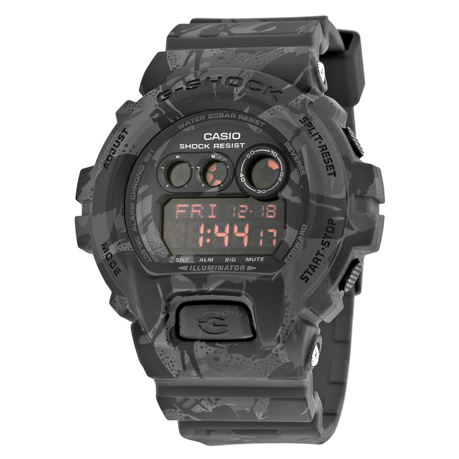 Casio G-Shock Night Camo Black Digital Resin Mens Watch GDX-6900MC-1