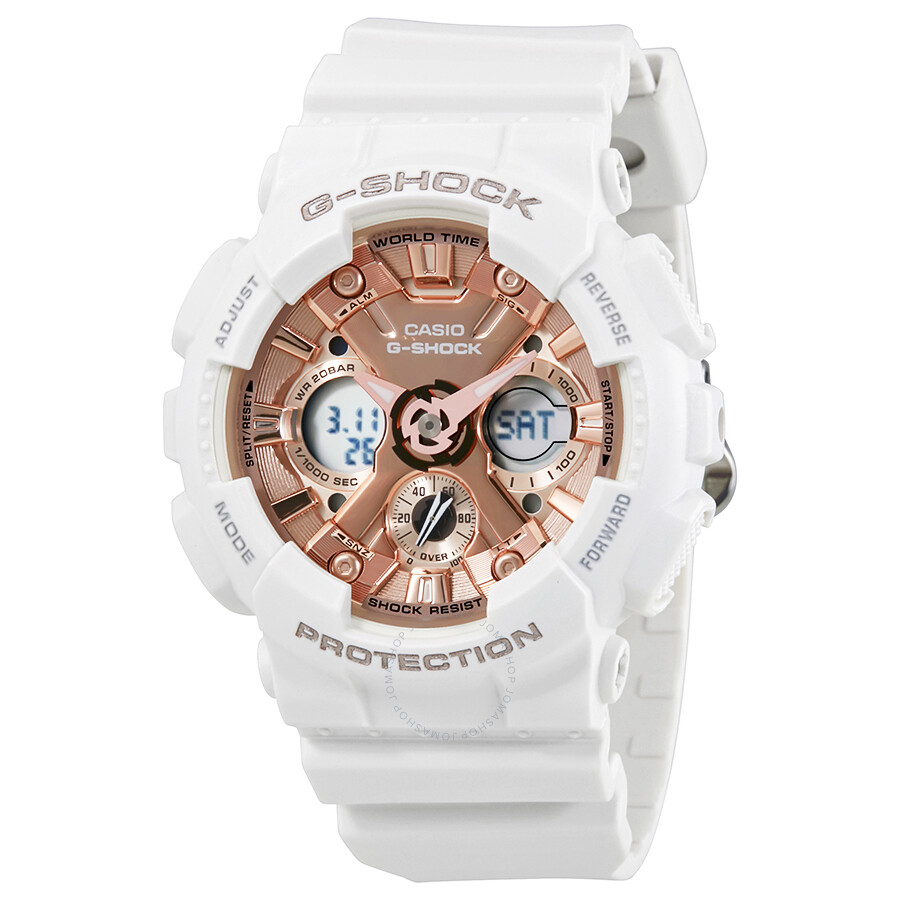 Luxury Watches Pens Handbags And Crystal Casio G Shock Camouflage Gd 120cm 4dr S Series Rose Gold Dial Ladies Sports Watch Gmas120mf 7a2