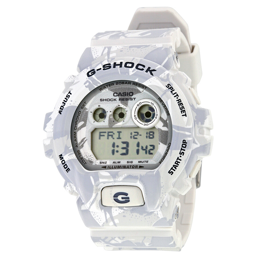 Casio G-Shock White Camo Dial Resin Mens Watch GDX-6900MC-7