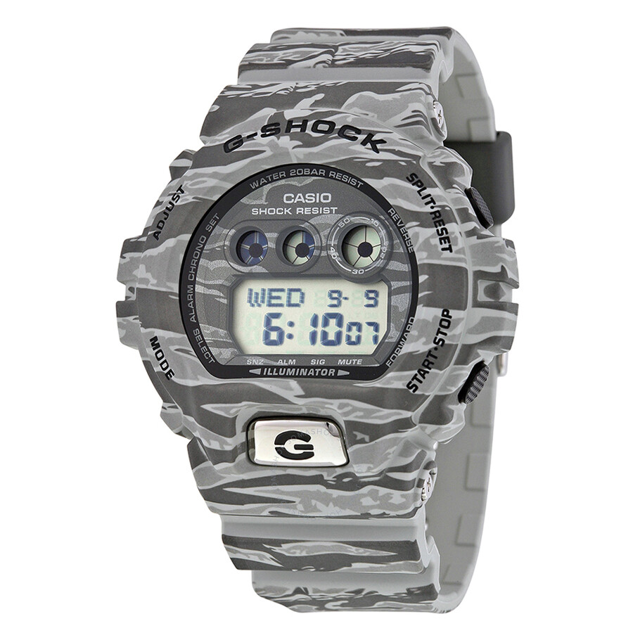 Casio G-Shock Classic Grey Digital Grey Camouflage Resin Mens Watch GDX6900TC-8CR