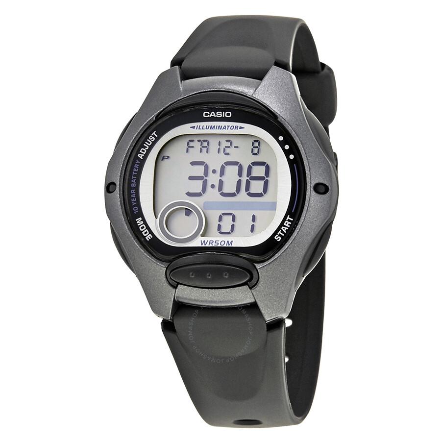 Casio ladies black resin digital watch lw200 1b casio watches jomashop for Black resin ladies watch