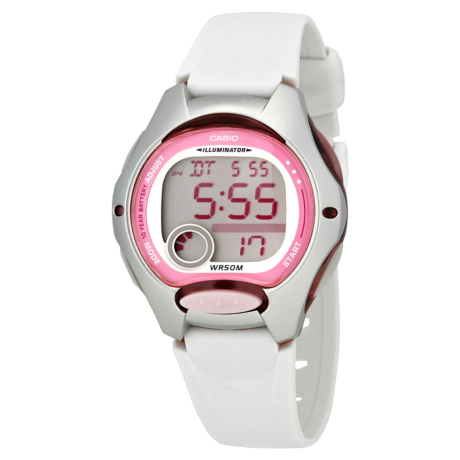 Casio Online For Female Hong Kong Ldf 52 4a Original Pink White Resin Ladies Sports Watch Lw2007a