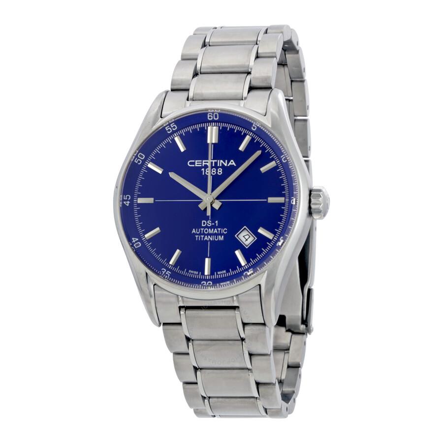Certina DS 1 - 3 Hands Titanium Mens Automatic Watch C0064074404100