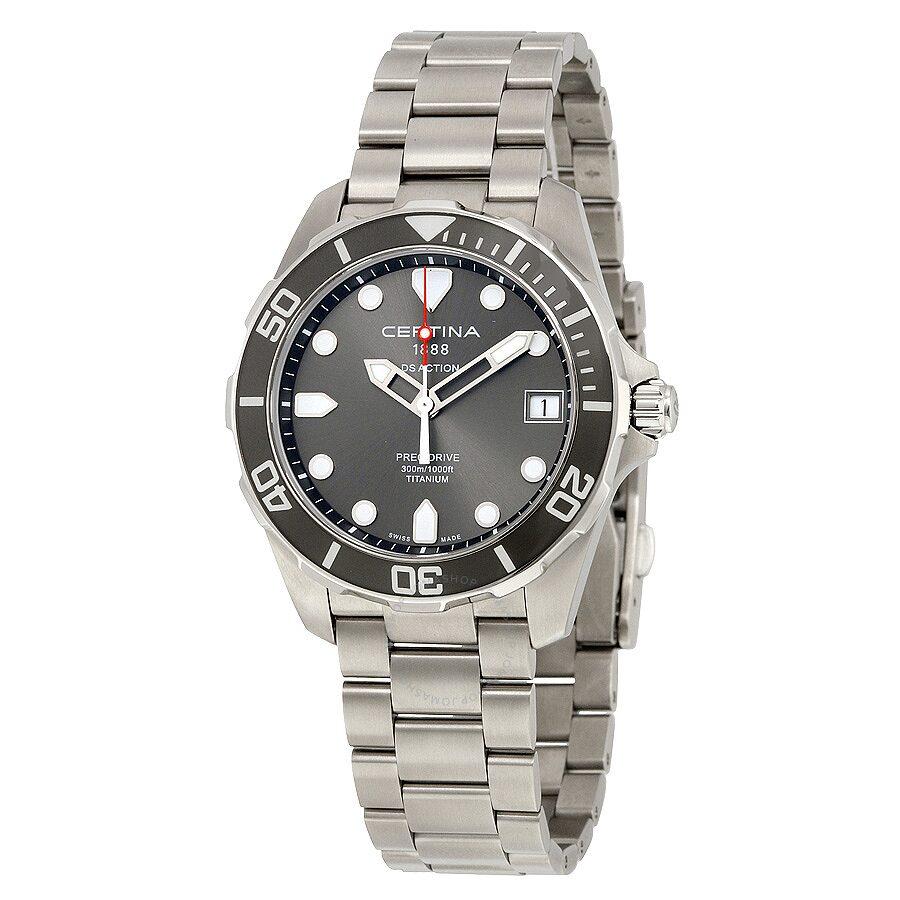 Certina DS Action Grey Dial Titanium Mens Watch C0324104408100