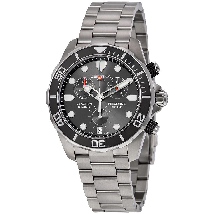 Certina DS Action Chronograph Grey Dial Titanium Mens Watch C032.417.44.081.00