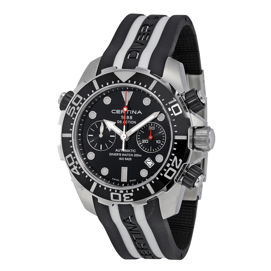 blue men ds dial watches diver action certina s iso chronograph watch