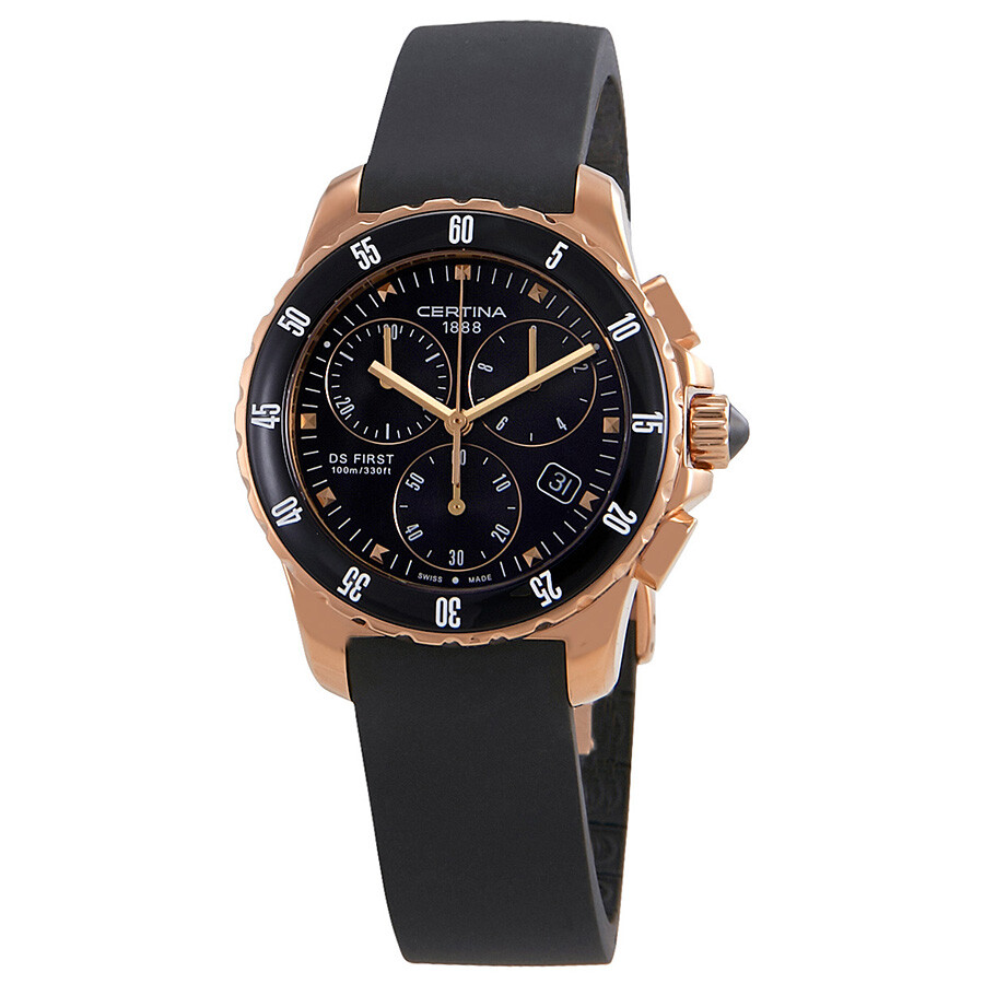 Certina DS First Lady Ceramic Chronograph Ladies Watch C0142173705100