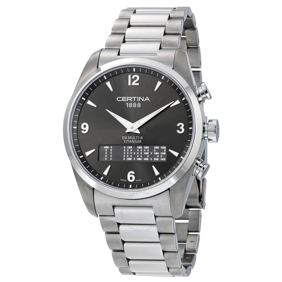 Certina DS Multi-8 Titanium Mens Quartz Watch C020.419.44.087.00