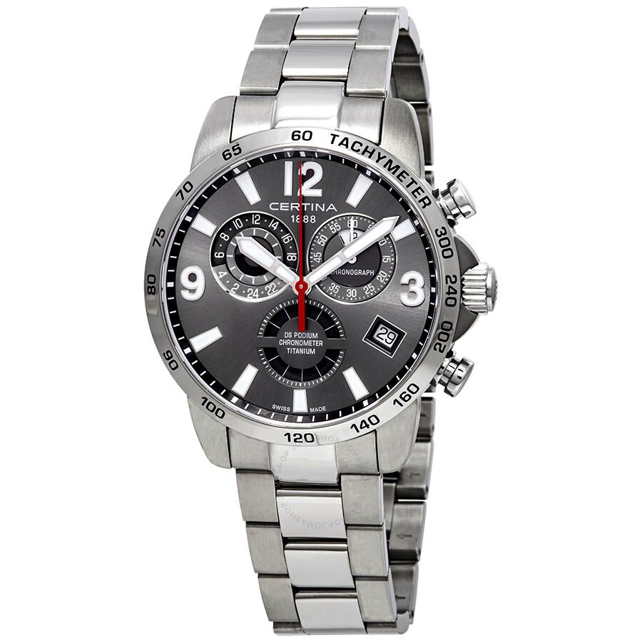 Certina DS Podium Chronograph Grey Dial Mens Watch C034.654.44.087.00