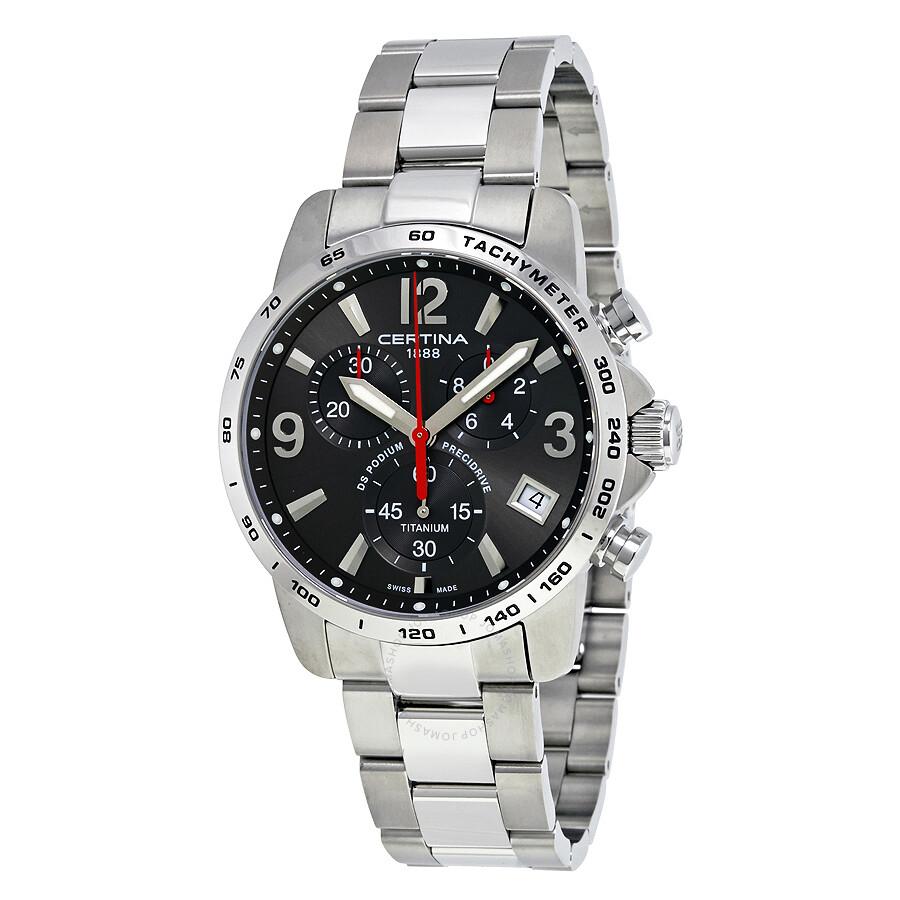 Certina DS Podium Chronograph Grey Dial Mens Watch C034.417.44.087.00