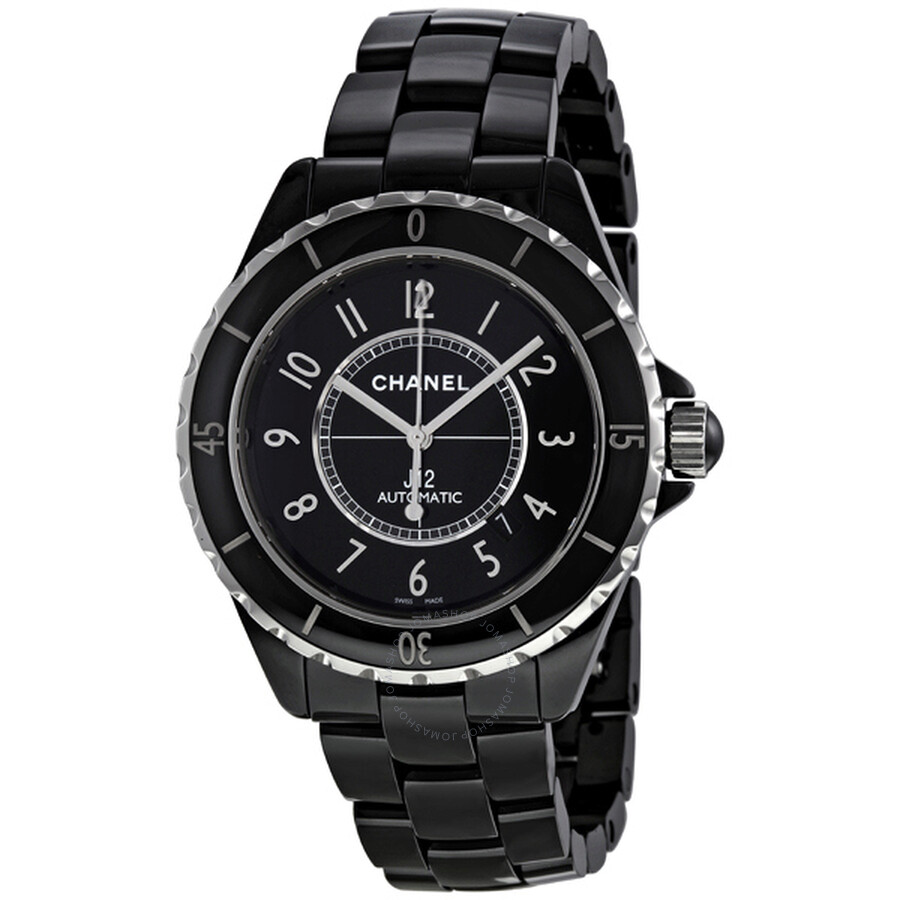 Chanel J12 Black Dial Ceramic Automatic Unisex Watch H2980 at Jomashop.com & JomaDeals.com