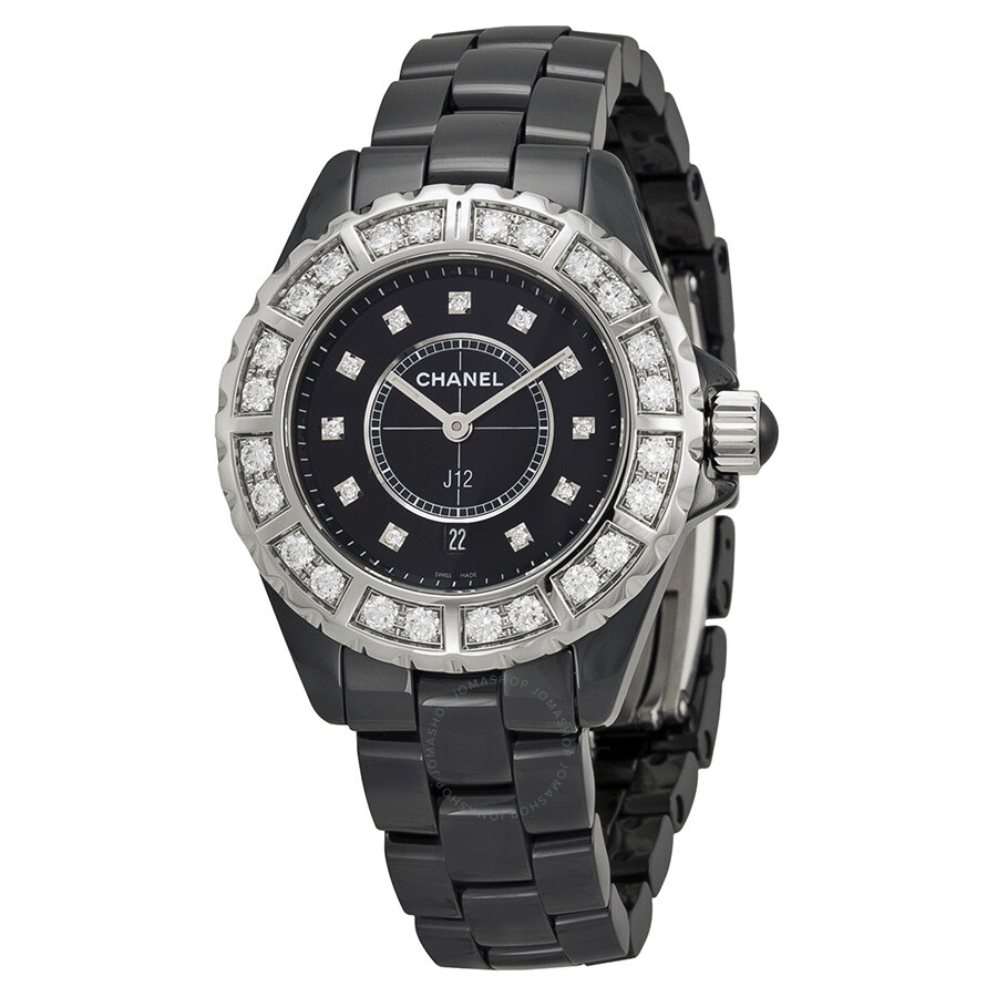 quartz swisswatchexpo white chanel watches ladies f diamonds ceramic watch