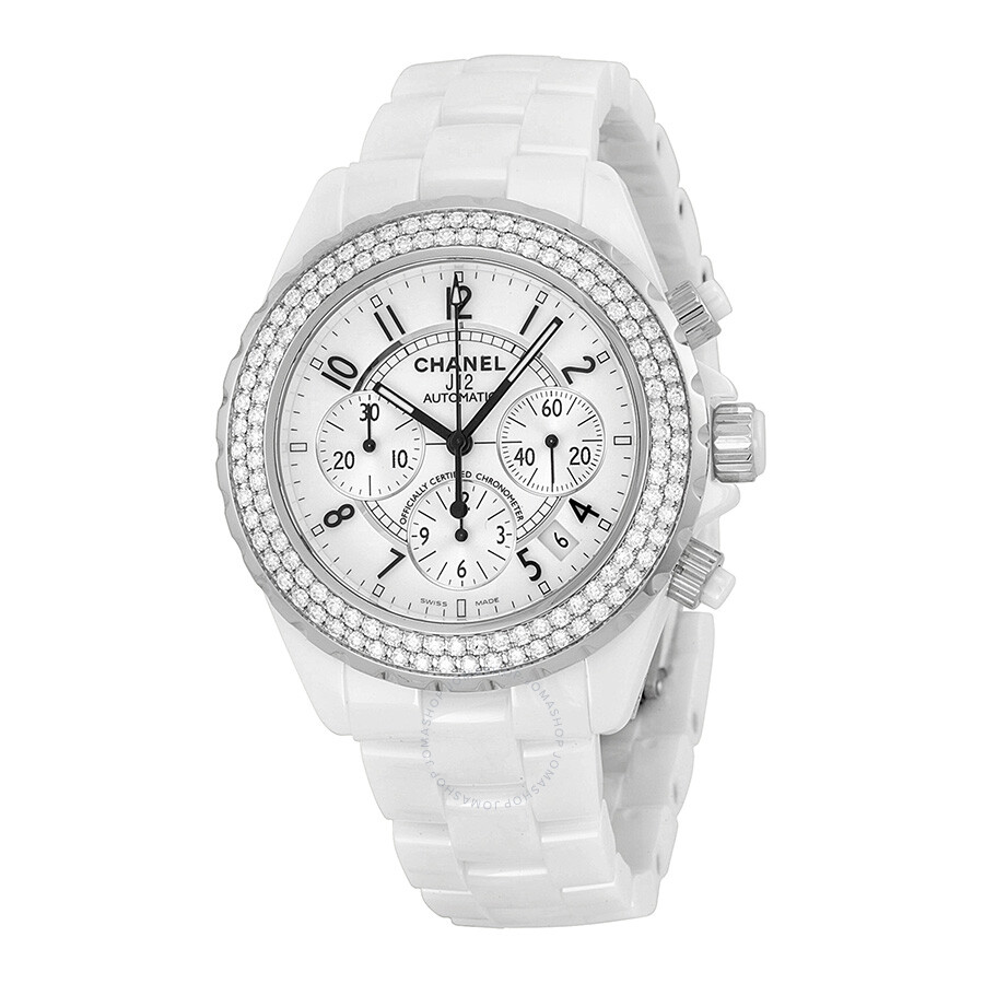 bezel ladies damaged chanel quartz white the ceramic is jh image on watch surface watches