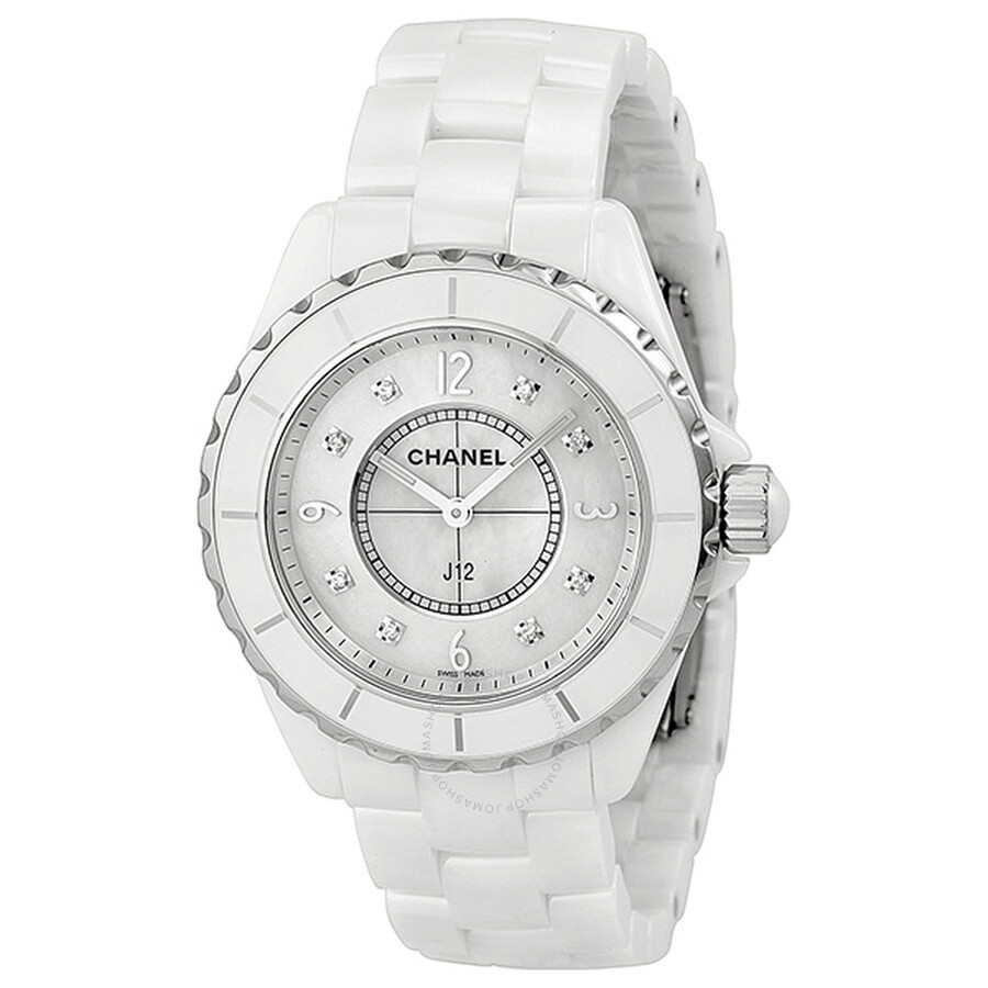 of the id white good very wrist watches epitome l v ceramic luxury chanel jewelry at front in condition watch