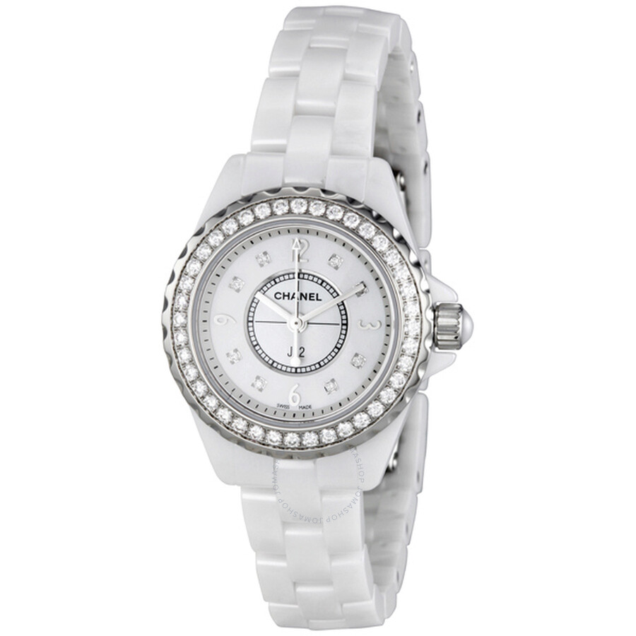 Chanel J12 Mother of Pearl White Ceramic Ladies Watch H2572 at Jomashop.com & JomaDeals.com