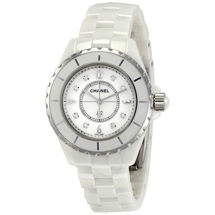 watches watch white ceramic modaselle chanel quartz