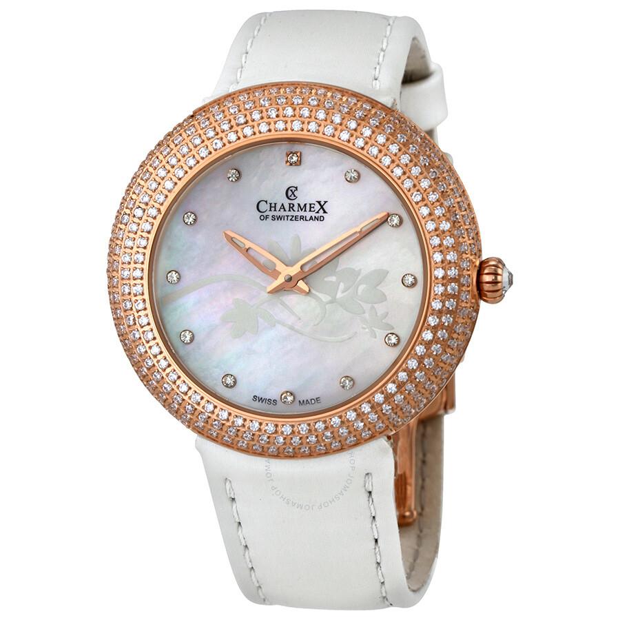 Charmex of Switzerland Las Vegas Mother of Pearl Ladies Watch 6295