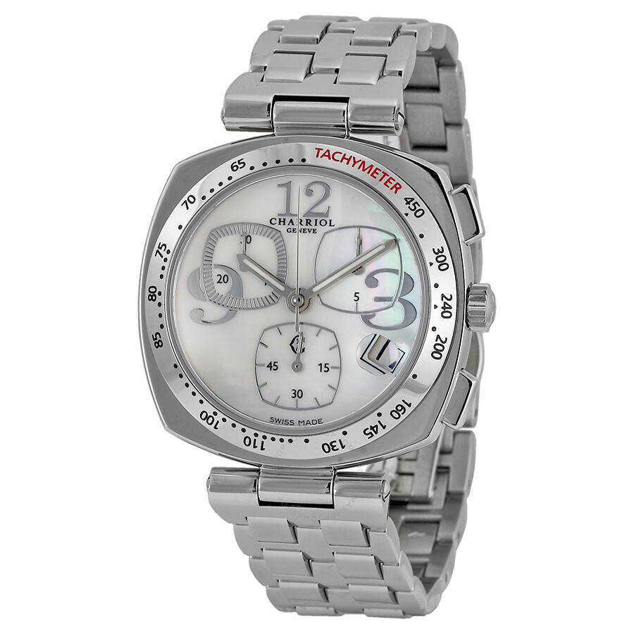 Charriol Alexandre Mother of Pearl Chronograph Ladies Watch ALC960003