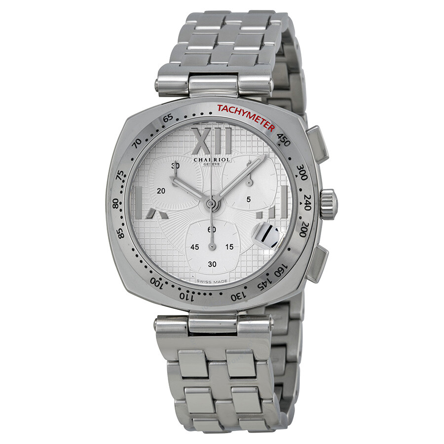 Charriol Alexandre Silver Dial Chronograph Stainless Steel Ladies Watch ALC960001