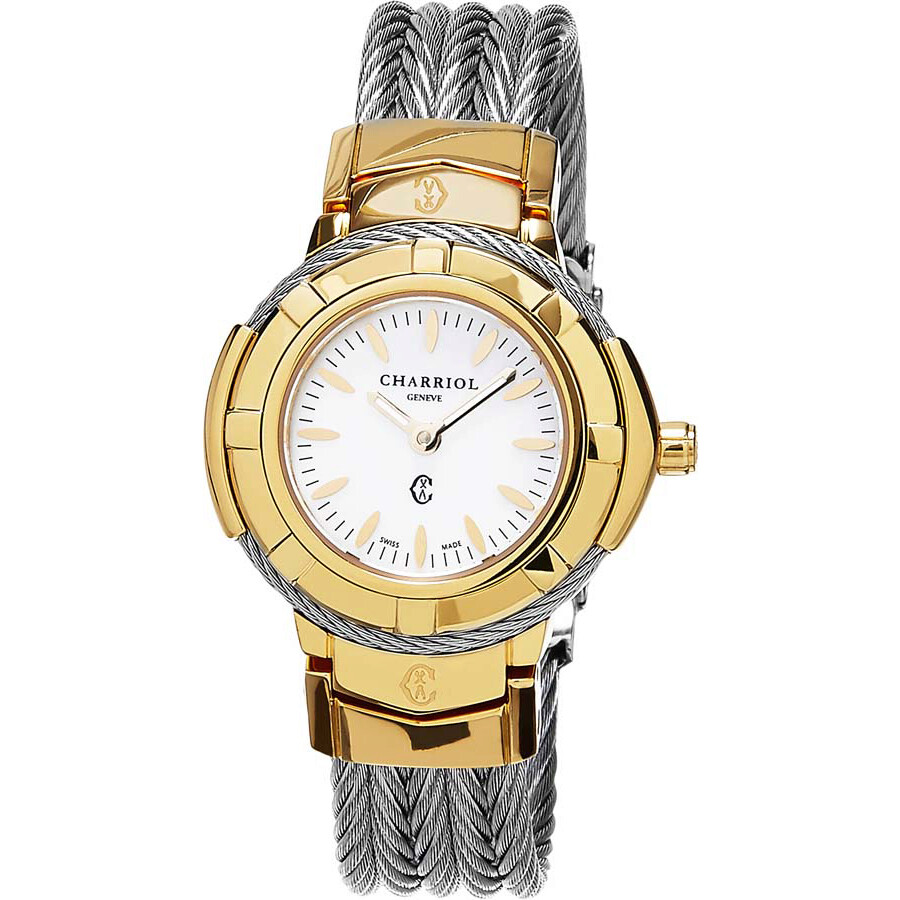 Charriol Celtic White Dial Ladies Watch CE426Y1640006